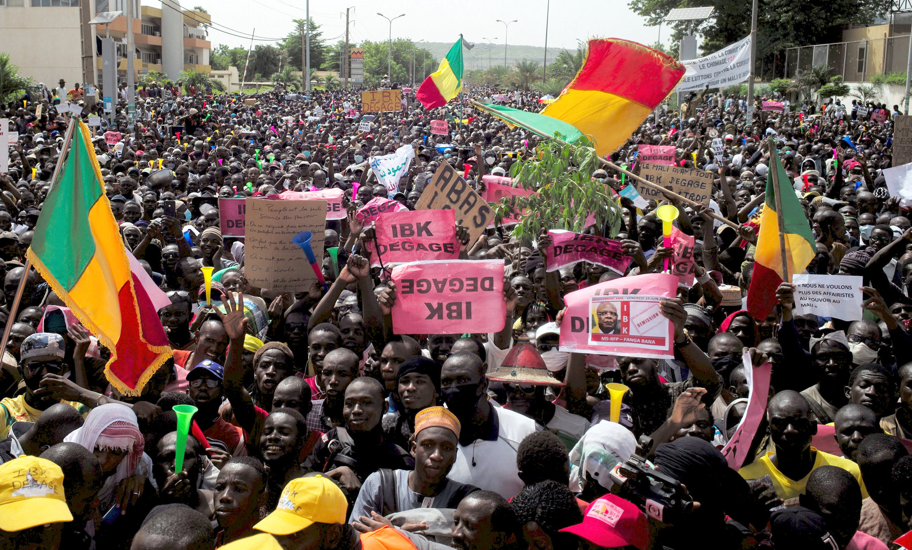 Watch | Anti-government protest in Malian capital -video;[watch ...